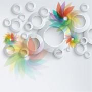 21989shutterstock_147505358---Beyaz-zemin-uzerinde-renkli-cicekler-ve-sablonlar---3D