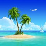 30110shutterstock_134524883--yat-ve-ucak-ile-palmiye-agaci-ile-tropikal-adada