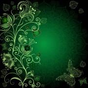 4d4a6shutterstock_97256741_600_600---Koyu-yesil-arka-plan-uzerinde-cicek-ve-kelebekler